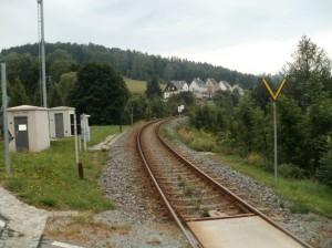 spoorbaan bij Wiesa